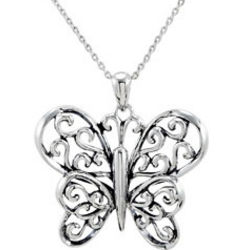 Butterfly Principle Silver Pendant & Chain