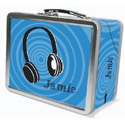 Personalized Headphones Lunch Box