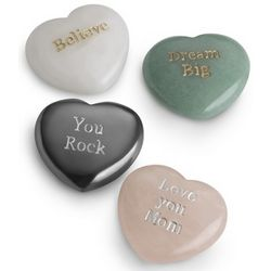 Heart Sentiment Stones