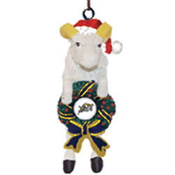 Navy Mascot Goat with Wreath Ornament