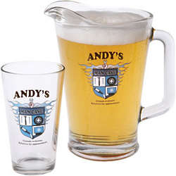 Personalized Man Cave Shield Pint Glasses