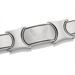 Men's Embossed Stainless Steel US Air Force Bracelet