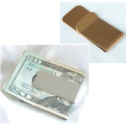 Personalized Silver or Gold Plated Money Clip