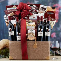 Talaria Sonoma Valley Wine Quartet Gift Basket