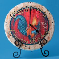 Country Kitchen Personalized Slate Clock
