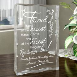 Personalized To Be a Friend Plaque