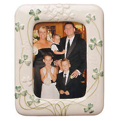 Parian China Shamrock Frame