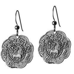 Tibetan Silver Snow Lion Earrings