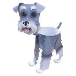 Paul the Schnauzer Dog Planter