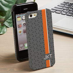 Stripe Monogram iPhone 5 Cell Phone Hardcase
