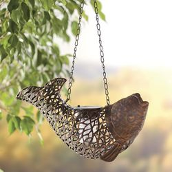 Hanging Metal Fish Solar Lantern