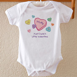 Personalized Little Valentine Baby Bodysuit