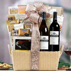 Glenbrook Vineyards Chardonnay and Merlot Duet Gift Basket