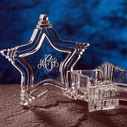 Star-Shaped Engravable Crystal Keepsake Box