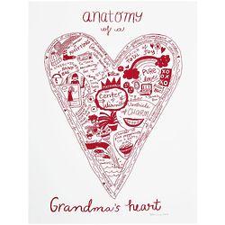 Anatomy of a Grandparent's Heart Screenprint