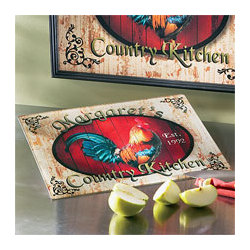 Personalized Rooster Cutting Board