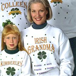Personalized Irish Grandparents Sweatshirt