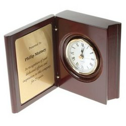 Personalized Retirement Book Clock