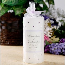 Swarovski Crystal Memorial Candle
