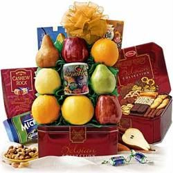 Grandest Cookie & Fruit Gift Basket