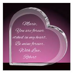 You Are Forever Personalized Crystal Heart