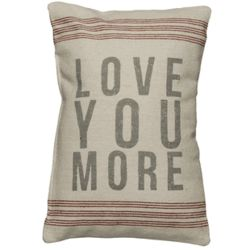 Love You More Vintage Sack Pillow