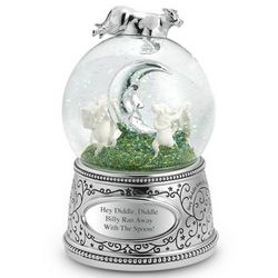 Cow and Moon Snow Globe