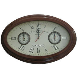 Wood Oval Wall Clock