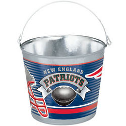 New England Patriots 5 Quart Pail
