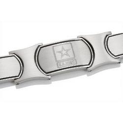 Men's Embossed Stainless Steel US Army Bracelet