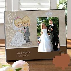 Personalized Precious Moments Bride and Groom Picture Frame