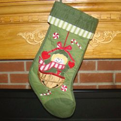 Snowy Christmas Personalized Christmas Stocking