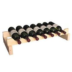 Wooden 7 Bottle Scalloped Kitchen Storage Wine Rack