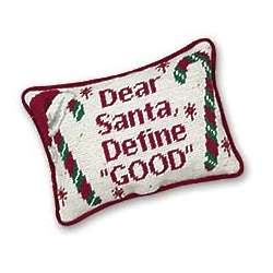 Define Good Christmas Needlepoint Pillow