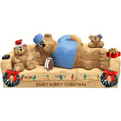 Beary Christamssy Couch Personalized for Daddy & up to 6 Teddies