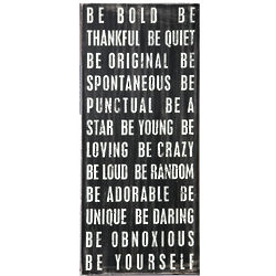 Be Bold Wall Art