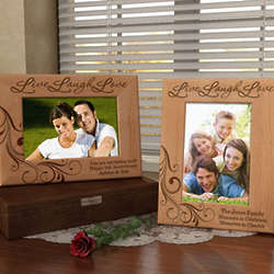 Personalized Life of Love and Laughter Wooden Picture Frame