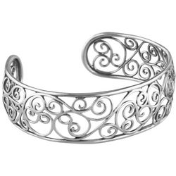 American West Spanish Filigree Silver Cuff Bracelet