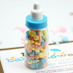 Mini Plastic Baby Bottles Party Favor