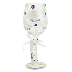 Personalizable Wedding Party Wine Glass