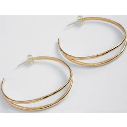 Bronze Split Hoop Earrings