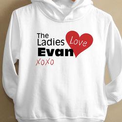 Personalized Ladies Love Me Toddler Sweatshirt