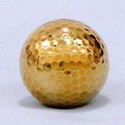 Gold Dipped Golf Ball