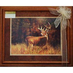 Framed Deer Art with Bible Verse