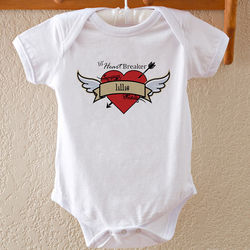 Heartbreaker Personalized Baby Bodysuit