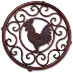 Wrought Iron Rooster Trivet