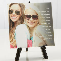 Photo Sentiments for Friends Custom Canvas Print