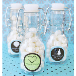 Themed Personalized Mini Glass Bottles