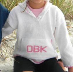 Monogrammed Hooded Sweater with Pocket