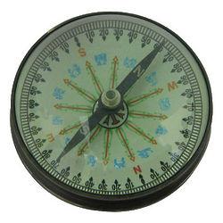 Antique Brass Compass Paperweight